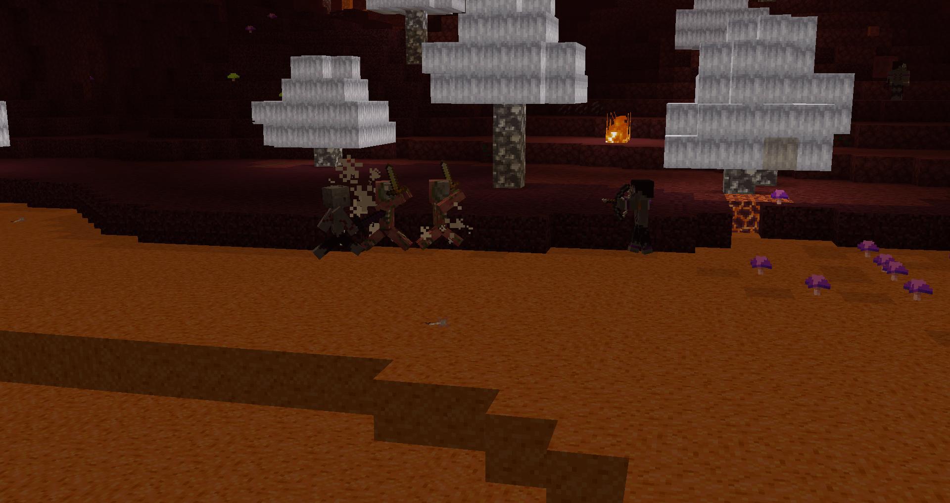 Tribals fighting Zombie Pigmen