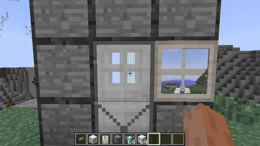 Reinforced iron door w/ camera.