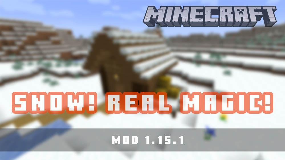 Snow Real Magic Mod para Minecraft 1.15.1
