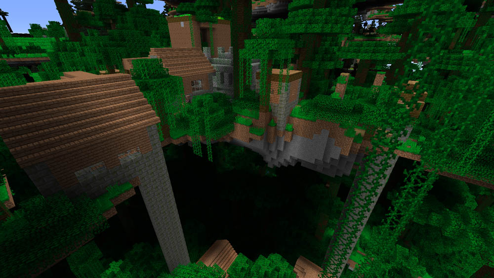 Jungle Village with a Jungle Temple fused to it!