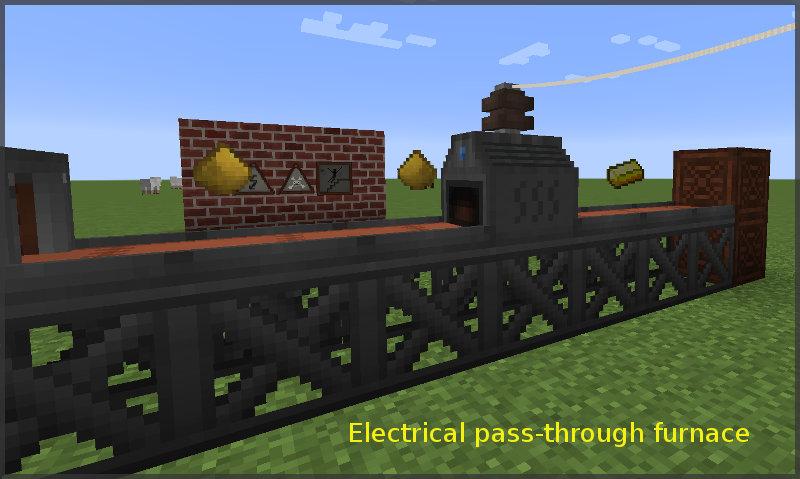 Electrical pass-through furnace