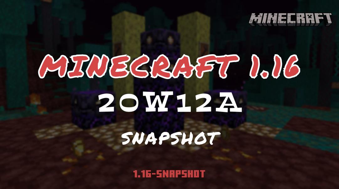 MINECRAFT 1.16 : SNAPSHOT 20W12A