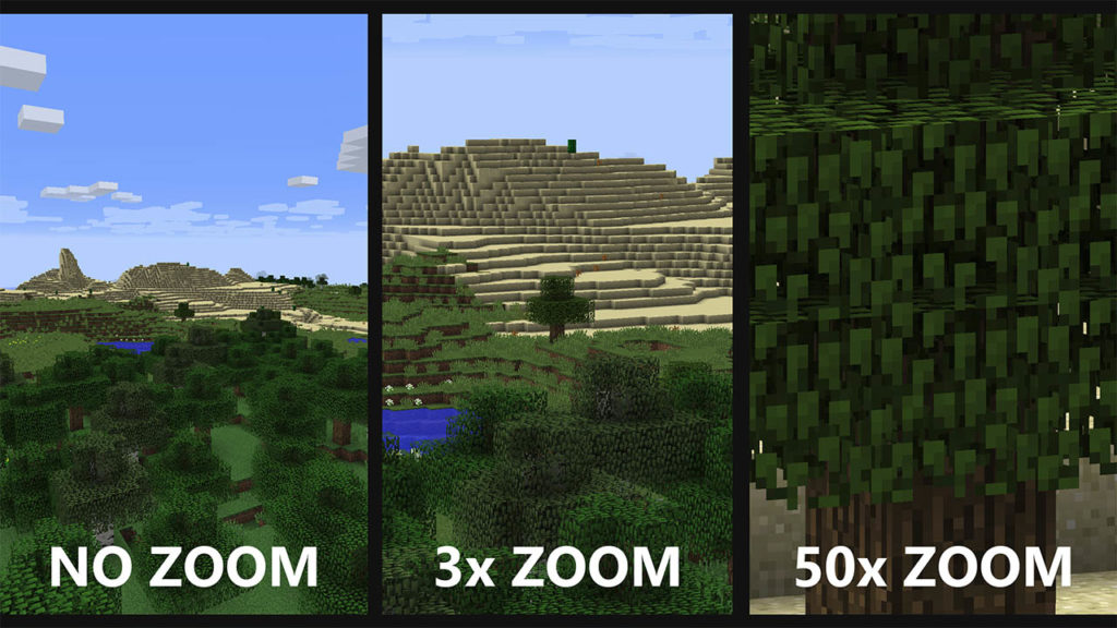 Comparison of zoom levels