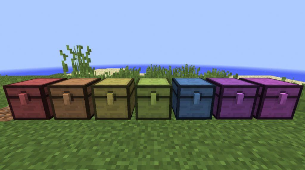 Different colors of chest