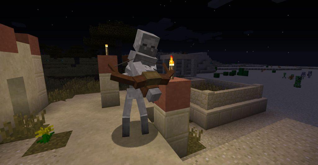 Mutant Skeleton loads its crossbow