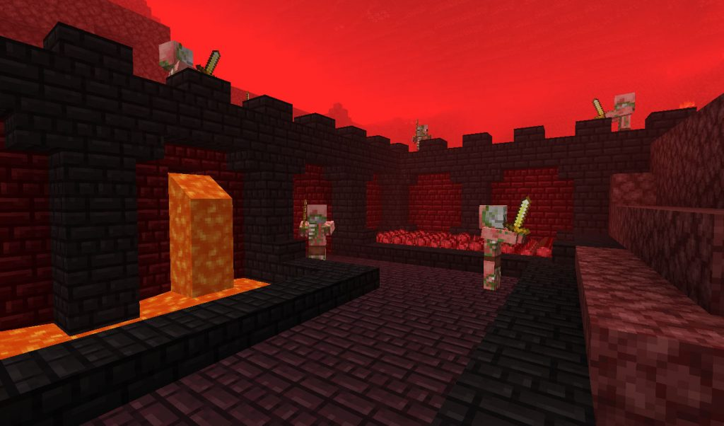 A Nether Castle Courtyard