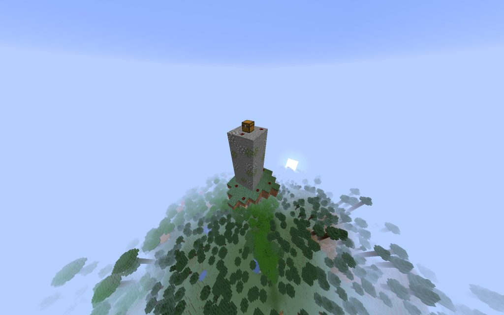 Floating Island With Mini Tower Dungeon On Top