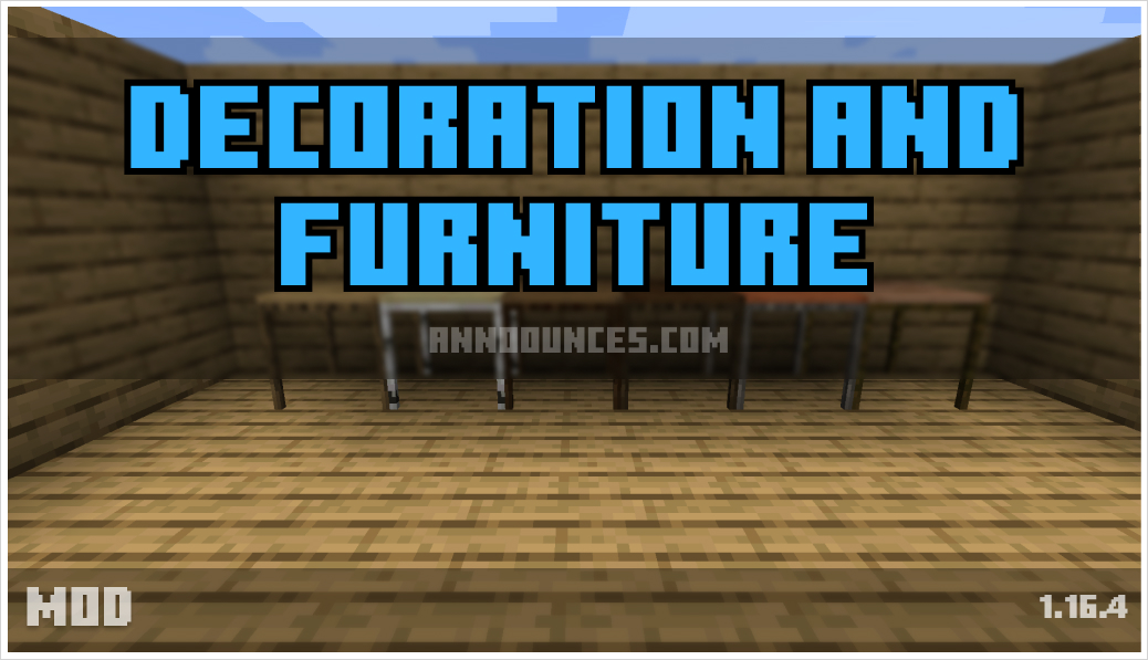 Decoration and Furniture Mod