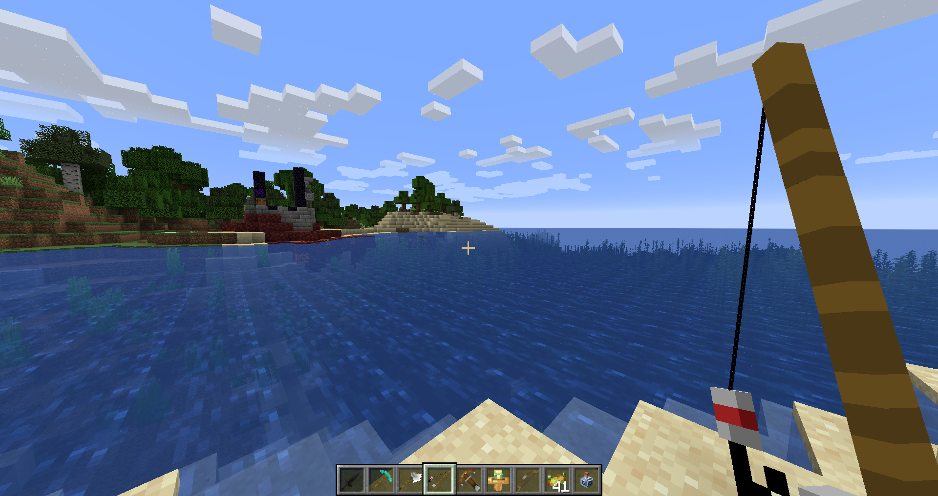 Fishing Rod in Action (Not in the pack ATM)